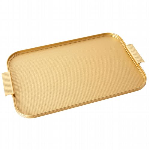 Kaymet Tray - Diamond Ribbed - Gold